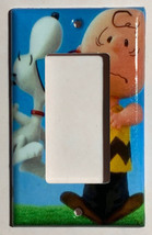 Peanuts Snoopy kiss Charlie Brown Light Switch Outlet wall Cover Plate Decor image 2