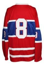 Custom Name # Houston Apollos Retro Hockey Jersey New Red Any Size image 2