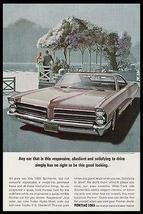 Pontiac Bonneville  Lavender 1965 VK AF Print Ad Romance - $18.99