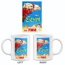 Egypt - Fly TWA - 1960's - Travel Poster Mug - $23.99+