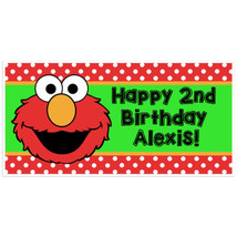 Elmo Sesame Street Birthday Banner Personalized Party Backdrop - $22.50 - $37.00
