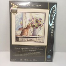 Kitten in the Window Leftovers Cross Stitch Kit No Fabric  Dimensions Gold - $14.50