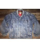 Gap ~ Vtg Men's Denim Jean Blue Coat Jacket Lined Buffalo 1990's Trucker... - $71.52