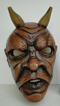 Antique Nikolaus Krampus wood handcarved BLACK FOREST Devil Mask Gothic ... - $380.00