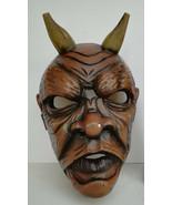 Antique Nikolaus Krampus wood handcarved BLACK FOREST Devil Mask Gothic ... - $380.00