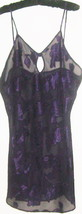 WOMEN'S PURPLE  KEYHOLE FRONT INTIMATE DRESS  SIZE L - $8.00