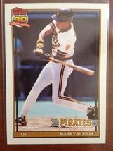 1991 Topps Barry Bonds Pittsburgh Pirates #570 Baseball Card Mint - $1.50