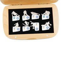 Set of 8 2010 Vancouver GE Sponsor Paralympic Pins with Original Case - $170.28