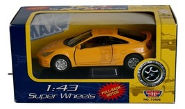 1:43 Super Wheels Yellow Motor Max, New Pull Back Motor, Diecast Metal & Plastic