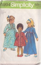 SIMPLICITY PATTERN 5994 SIZE 3 TODDLERS' ROBE IN 2 LENGTHS, NIGHTGOWN - $3.90