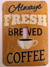 Coffee Metal Switch Plate - $9.50