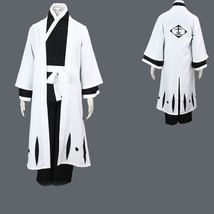 Bleach Jushiro Ukitake V3 13 Division Captain Robe Cosplay Costume - $76.84