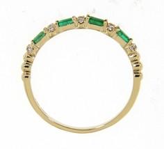 Emerald Baguette Nacimiento 14K Oro Amarillo 0.18CT Delicado Diamante Ba... - $712.42