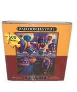 "Dowdle Folk Art 500 Pc Jigsaw Puzzle 16""x20"" Balloon Festival - $19.34"