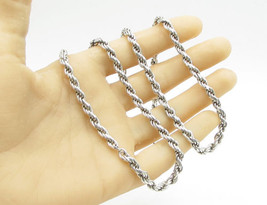 """PGDA 925 Sterling Silver -  Double Twist Rope Design 30"""" Necklace - N1103 - $154.23"""