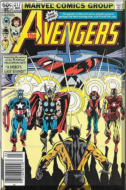 The Avengers #217 (1982) *Bronze Age / Marvel Comics / Yellowjacket / WASP*