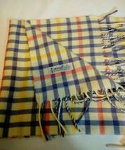 Echo Scarf 100% Acrylic Ivory Stripe Scarf Winter Scarf Multicolor Vintage - $10.36