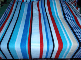 """Anti-pill Fleece Multi- Blues, Red and Cream  59"""" Wide 100 Polyester Sol... - $12.99"""