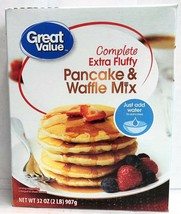 Great Value Complete Extra Fluffy Pancake & Waffle Mix 32 oz - $4.46