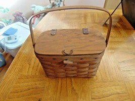 "Vintage Longaberger Basket Purse-Handle Leather Straps Length 9 1/2""-7"" ... - $29.99"