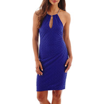 Bisou Bisou Sleeveless Hardware Overlay Sheath Dress Size 16 New Msrp $7... - $29.99