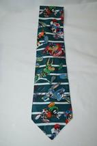 Looney Tunes Neck Tie Football Bugs Bunny Taz Tasmanian Devil Sport Necktie - $13.30