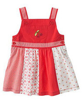 Good Old Days Gymboree NWT Cherry Pieced Dress Diaper Cover 6-12 mos  - $12.49