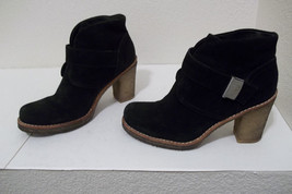 WOMENS UGG BRIENNE BLACK SUEDE LEATHER SHEEPSKIN LINED WINTER BOOTS BOOT... - $29.99