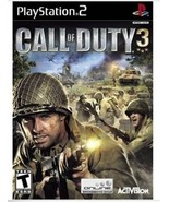 SONY Playstation2 - Call of Duty 3 Video Game with manual Jewel Case Com... - $11.29
