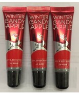Bath & Body Works Winter Candy Apple Lip Gloss Set of 3 NEW & Sealed Ful... - $19.70
