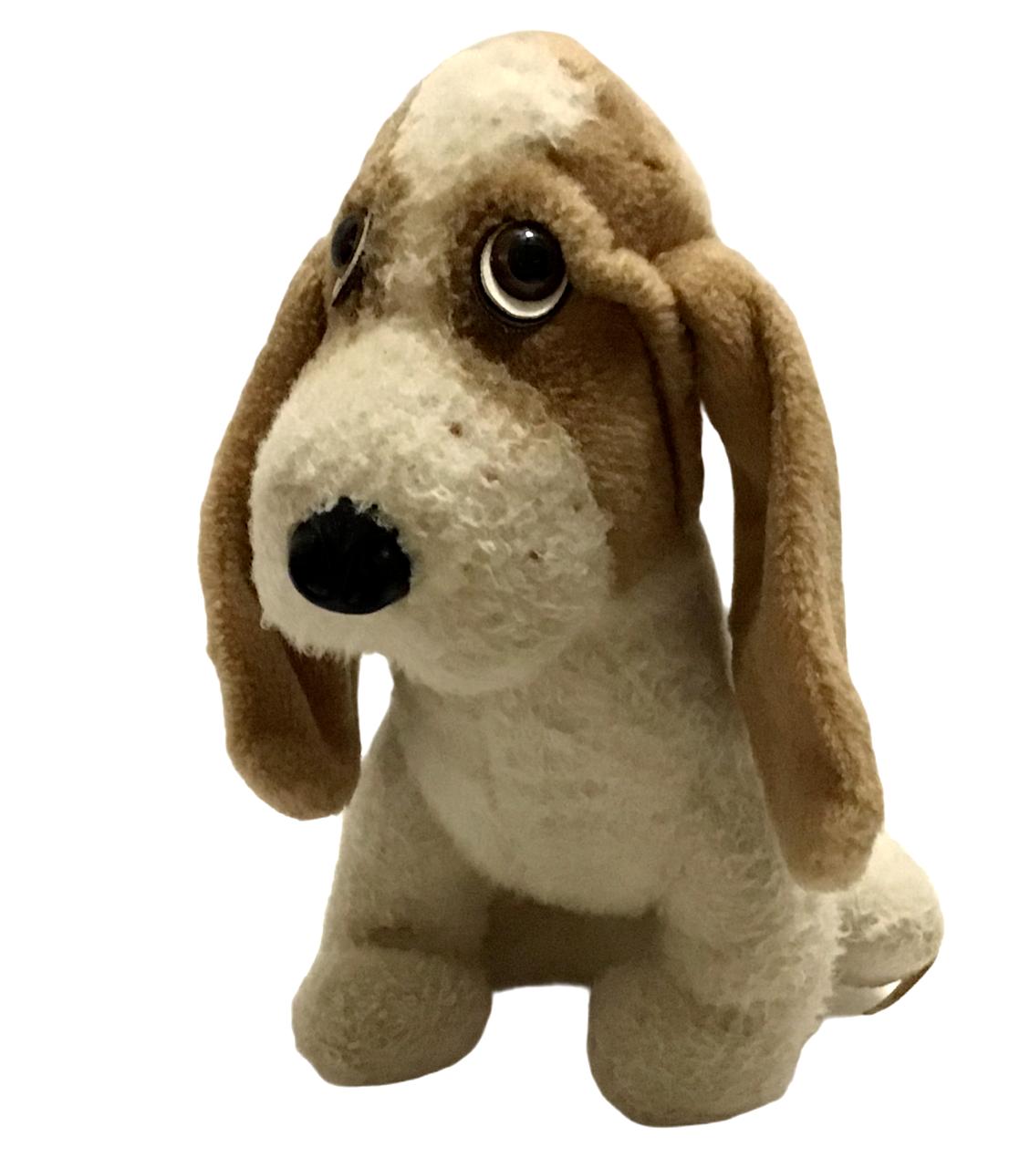 "Animal Fair 12"" Plush BOGART Bassett Hound Dog Plush Stuffed Plushie Vtg 1976  - $49.49"