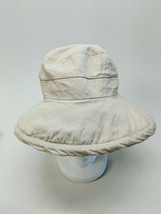 Panama Jack Unisex Safari Drawstring Bucket Hat 100% Cotton White Cream - $31.92