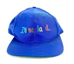 VTG Goofy Hat Co Blue Disneyland Spell Out Snapback Baseball Cap - $32.67