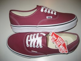 Vans Authentic Mens Dry Rose True White canvas Skate Boat shoes Size 8 N... - $49.49