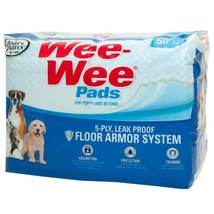 """Four Paws Wee-Wee Pads 50 pack White 22"""" x 23"""" x 0.1"""" - $18.89"""