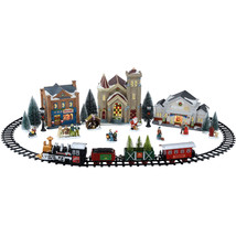 Christmas Xmas Train Set Battery Operated Christmas Village US - $68.75
