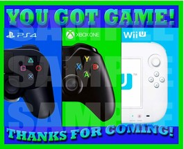 Video Game Videogame On Party Favor LABELS Thank you Decals Stickers Loo... - $12.82