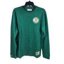 Mitchell & Ness Oakland Athletics Slub Knit Green Long Sleeve T-Shirt Size L 1D - $56.95