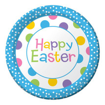 "Happy Easter Chick Celebration Dinner 9"" Dinner Plates 8 ct Spring Party - $3.99"