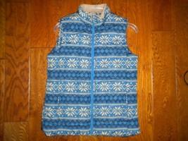 Great Northwest Indigo Small Snowflake Multi Color Sleeveless Women Wint... - $19.80