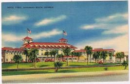 Georgia Postcard Savannah Beach Hotel Tybee - $2.22