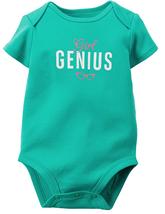 Carters Baby Girls Girl Genius Bodysuit, Green, Size NB - $8.90