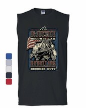 Injustice Becomes Law Rebellion Becomes Duty Muscle Shirt Militia 2A Sleeveless - $10.84+