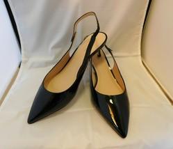 Kate Spade Shiloh Slingback Shoes Heels Black Patent Leather sz 8.5 New York - $125.00
