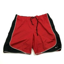 VINTAGE Nike Swim Trunks Size 38 Waist Red Black Boardshorts Straight Le... - $17.83