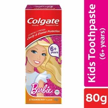 Colgate Anticavity Kids Barbie Strawberry flavor Toothpaste 6+ years 80 gm - $8.75