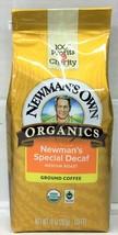 Newman's Own Organics Special Decaf Medium Roast Ground Coffee 10 oz New... - $11.24