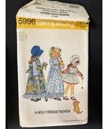 1973 Simplicity Sewing Pattern 5996 SZ 2 Holly Hobbie Dress Penafore Bon... - $5.89