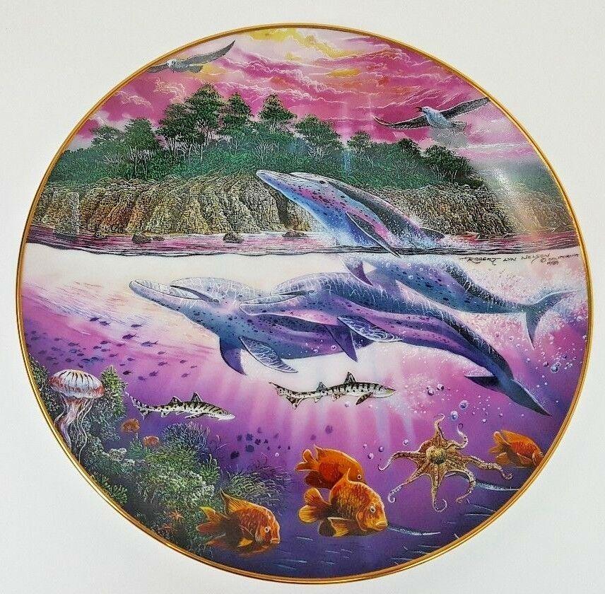 1991 Danbury Mint Robert Lyn Nelson Underwater Paradise California Spirits Plate