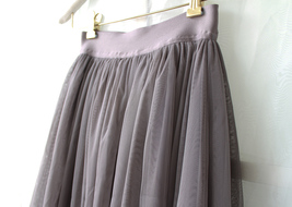 PLUS SIZE Gray Full Long Tulle Skirt Adult Gray Wedding Bridesmaid Skirt Dress image 4